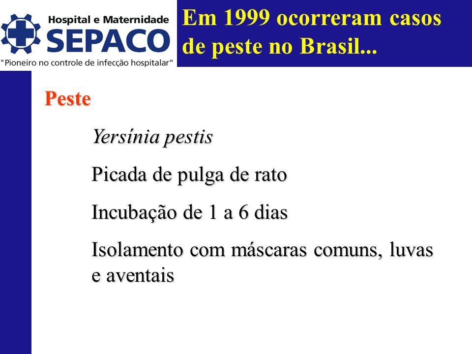 Em 1999 ocorreram casos de peste no Brasil...