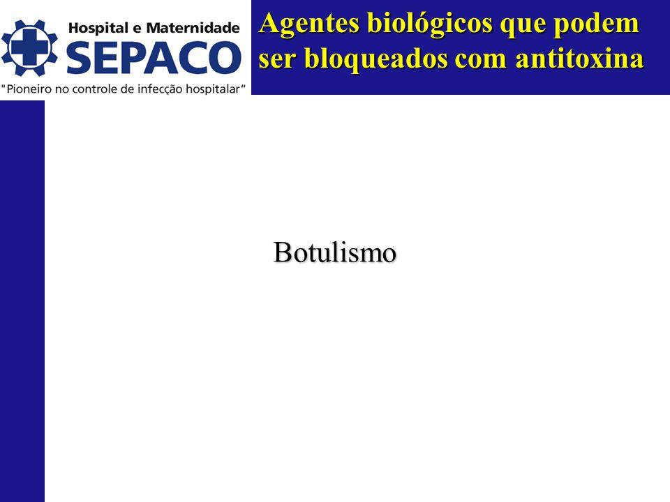 Agentes biológicos que podem ser bloqueados com antitoxina