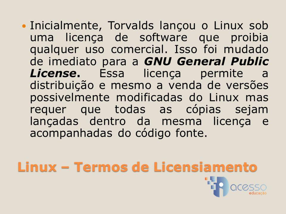 Linux – Termos de Licensiamento