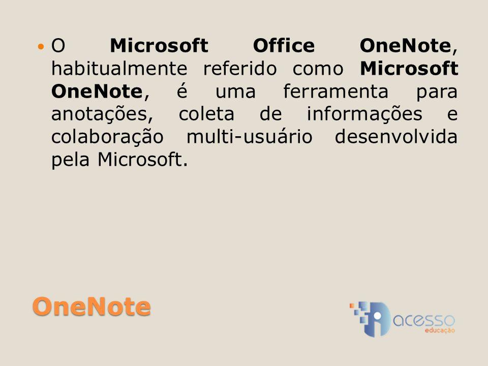 O Microsoft Office OneNote, habitualmente referido como Microsoft OneNote, é uma ferramenta para anotações, coleta de informações e colaboração multi-usuário desenvolvida pela Microsoft.