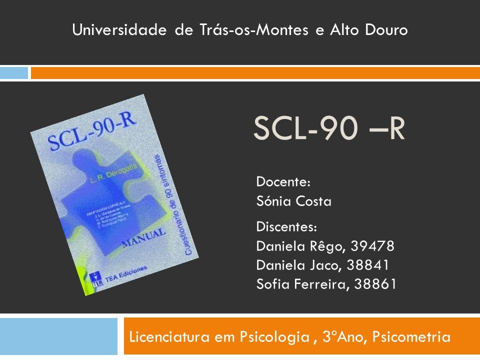 Licenciatura em Psicologia , 3ºAno, Psicometria