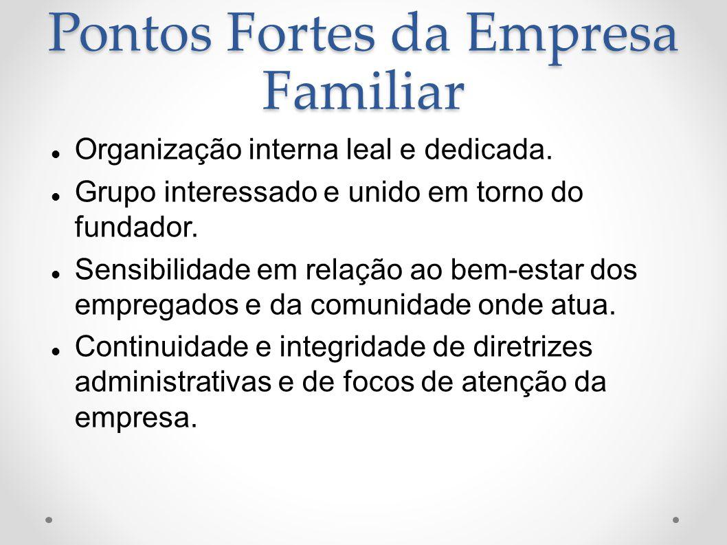 Pontos Fortes da Empresa Familiar