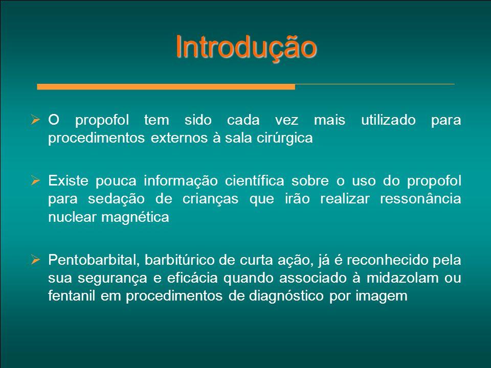 Introdução O propofol tem sido cada vez mais utilizado para procedimentos externos à sala cirúrgica.