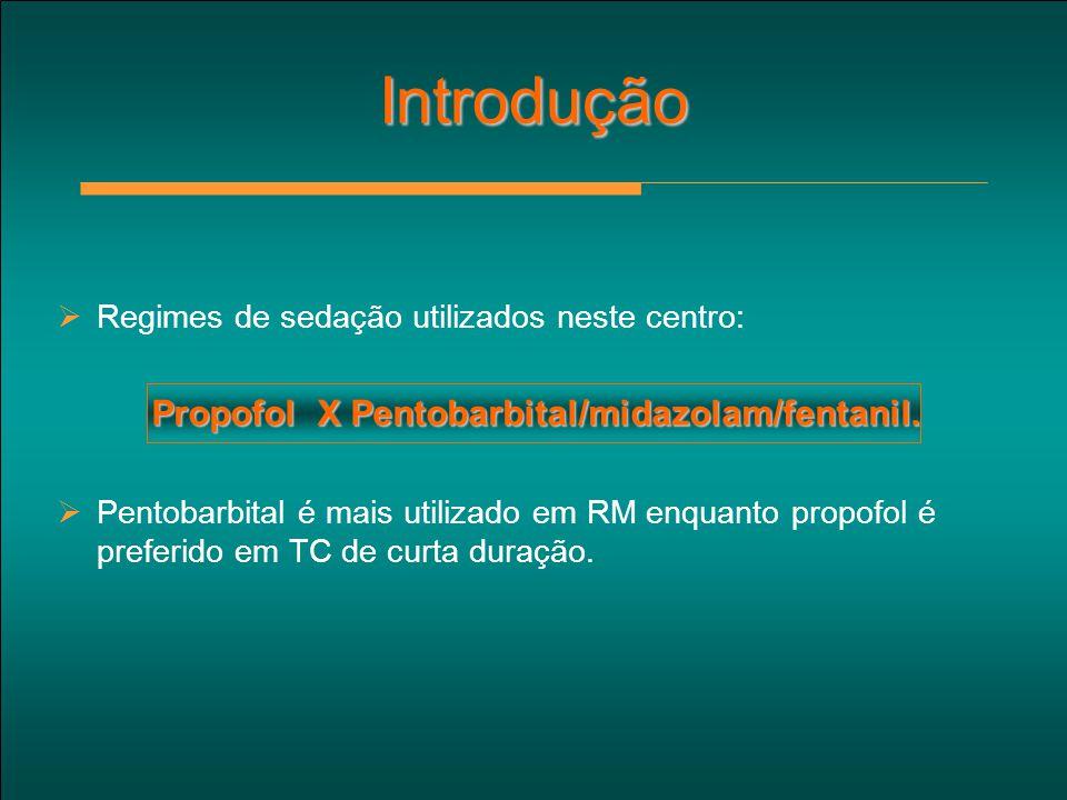 Propofol X Pentobarbital/midazolam/fentanil.