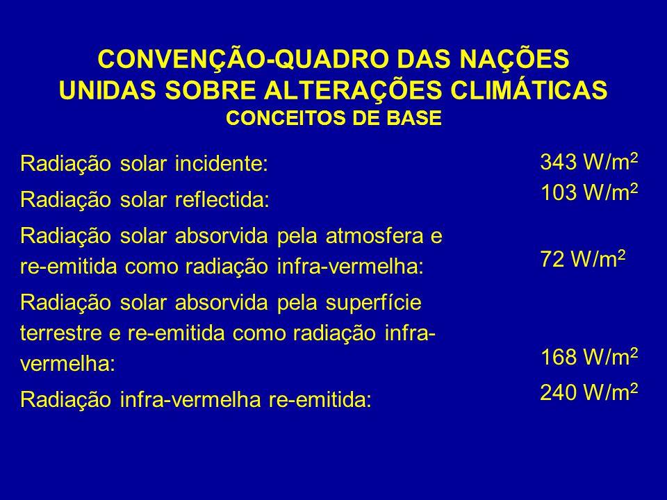 CONVENÇÃO-QUADRO DAS NAÇÕES UNIDAS SOBRE ALTERAÇÕES CLIMÁTICAS CONCEITOS DE BASE