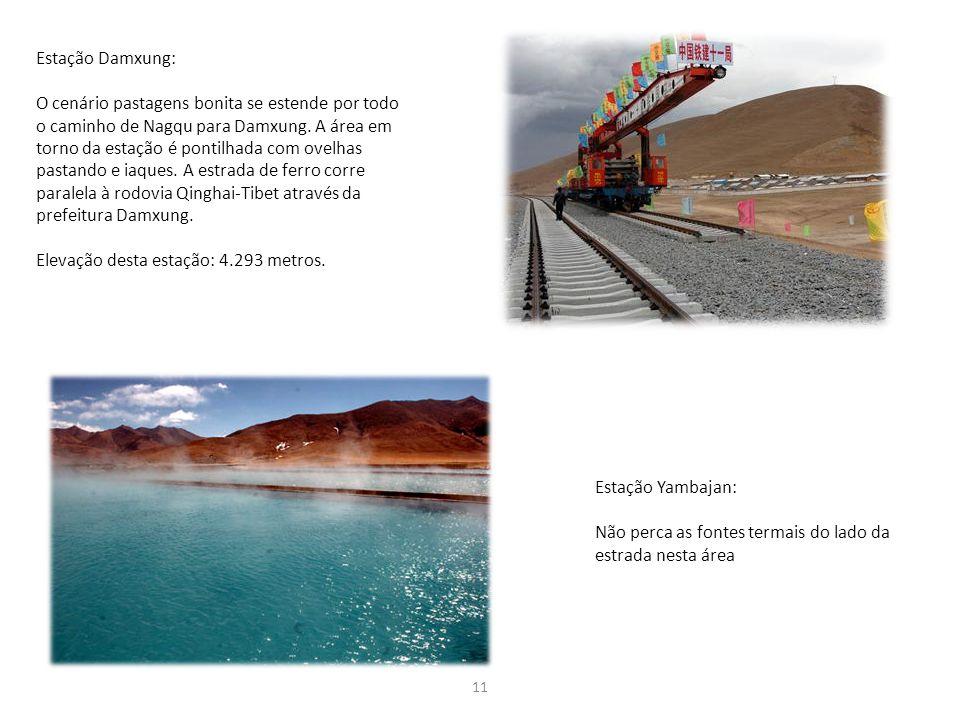 Elevação desta estação: 4.293 metros.