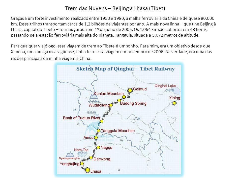 Trem das Nuvens – Beijing a Lhasa (Tibet)
