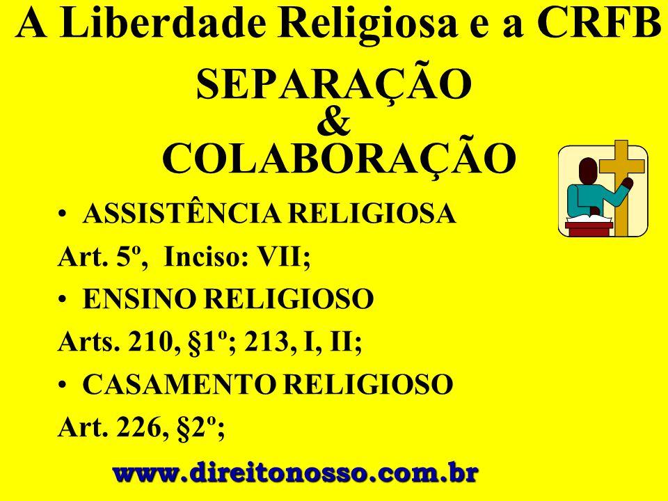 A Liberdade Religiosa e a CRFB SEPARAÇÃO & COLABORAÇÃO