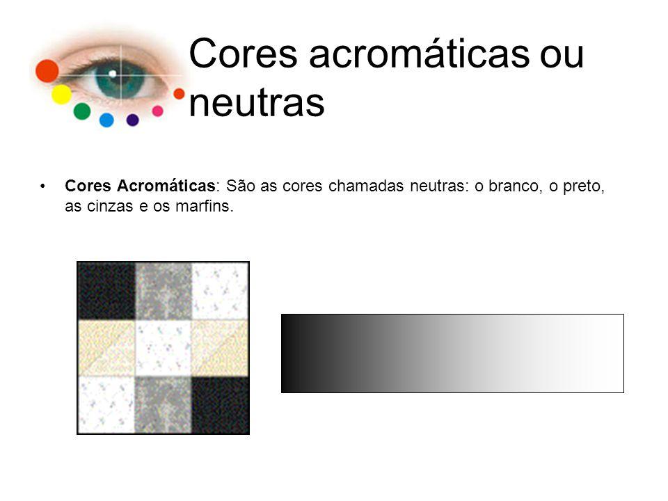 Cores acromáticas ou neutras