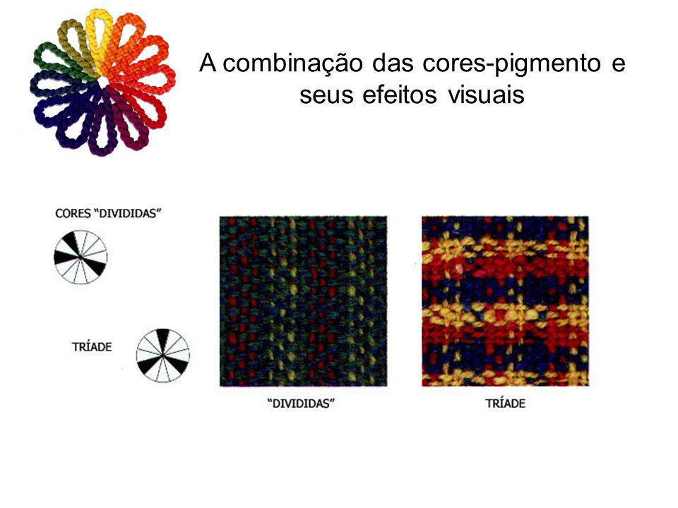A combinação das cores-pigmento e seus efeitos visuais