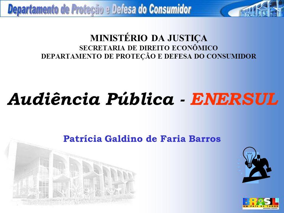 Audiência Pública - ENERSUL Patrícia Galdino de Faria Barros