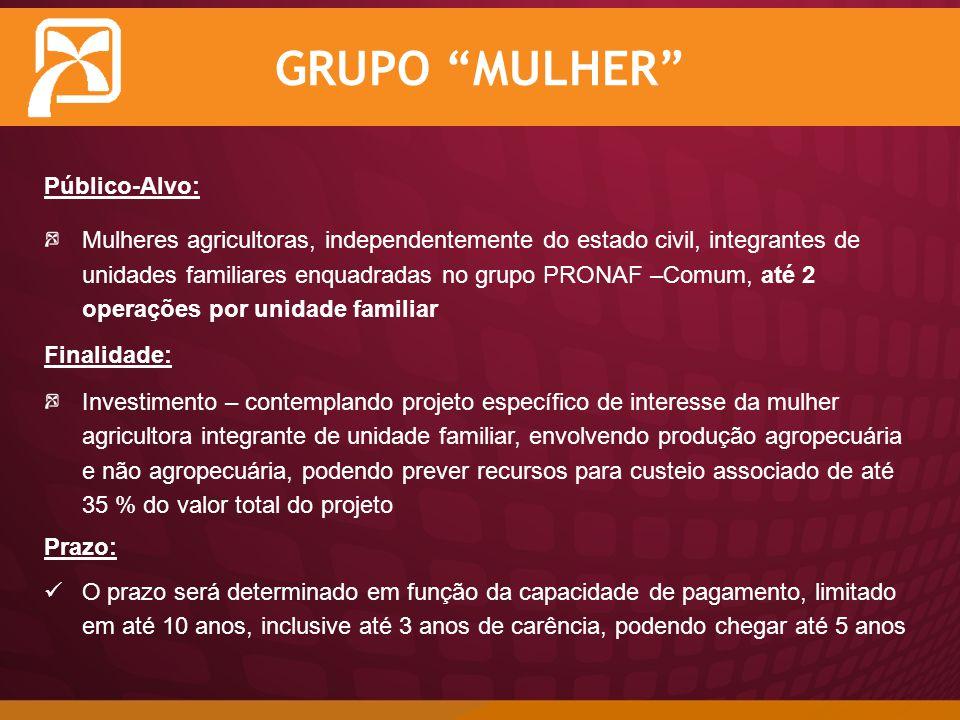 GRUPO MULHER Público-Alvo: