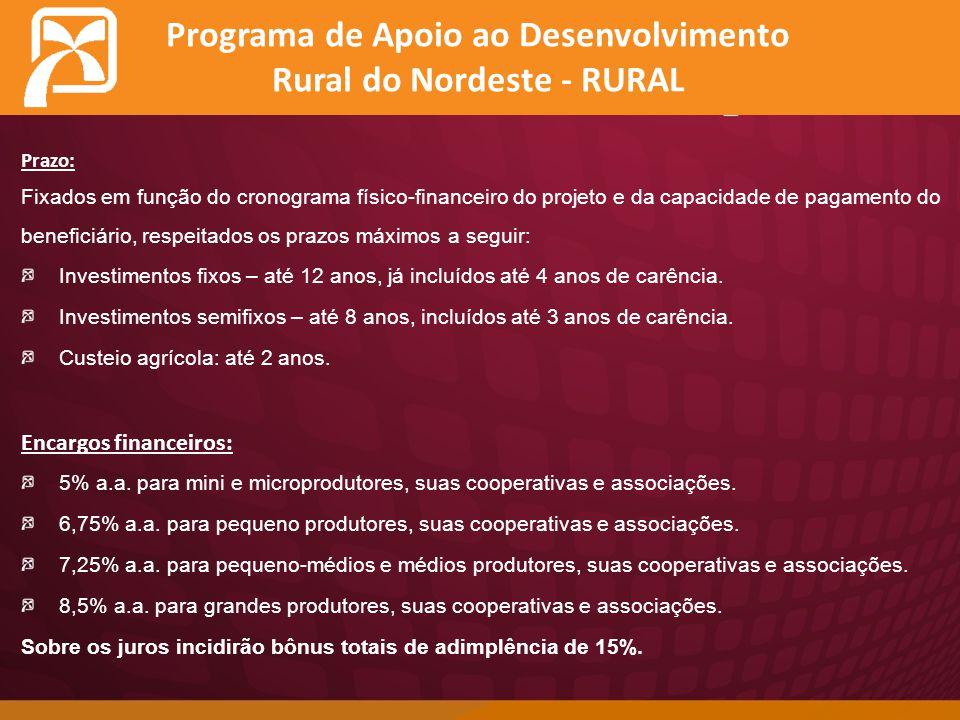 Programa de Apoio ao Desenvolvimento Rural do Nordeste - RURAL