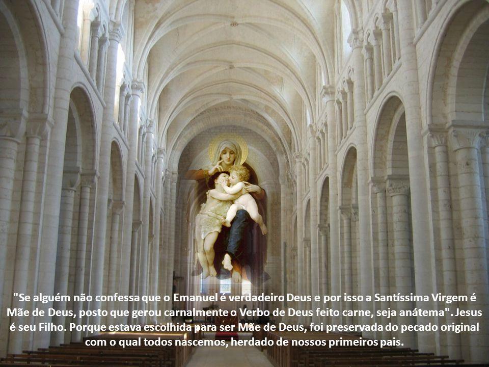 Se alguém não confessa que o Emanuel é verdadeiro Deus e por isso a Santíssima Virgem é Mãe de Deus, posto que gerou carnalmente o Verbo de Deus feito carne, seja anátema .