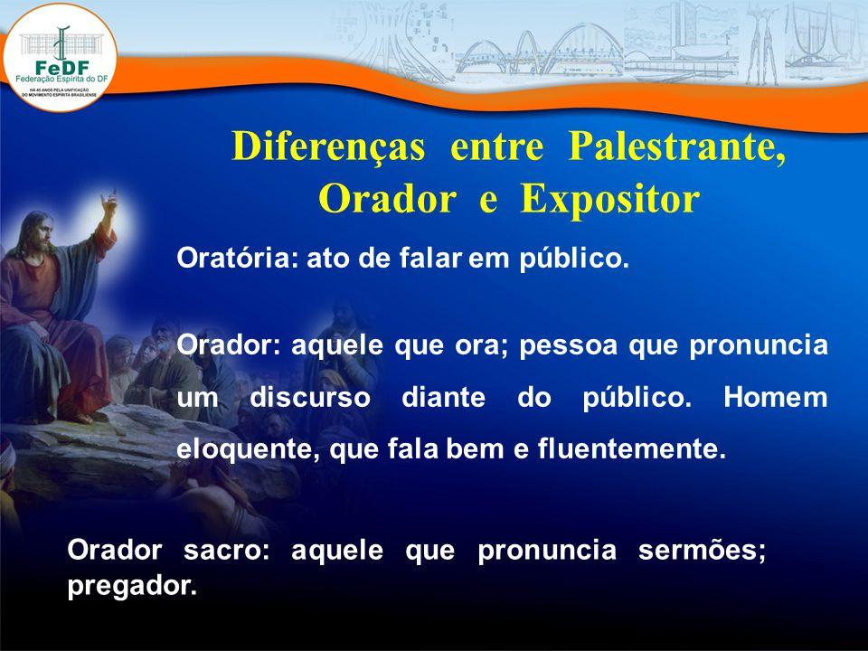 Diferenças entre Palestrante, Orador e Expositor