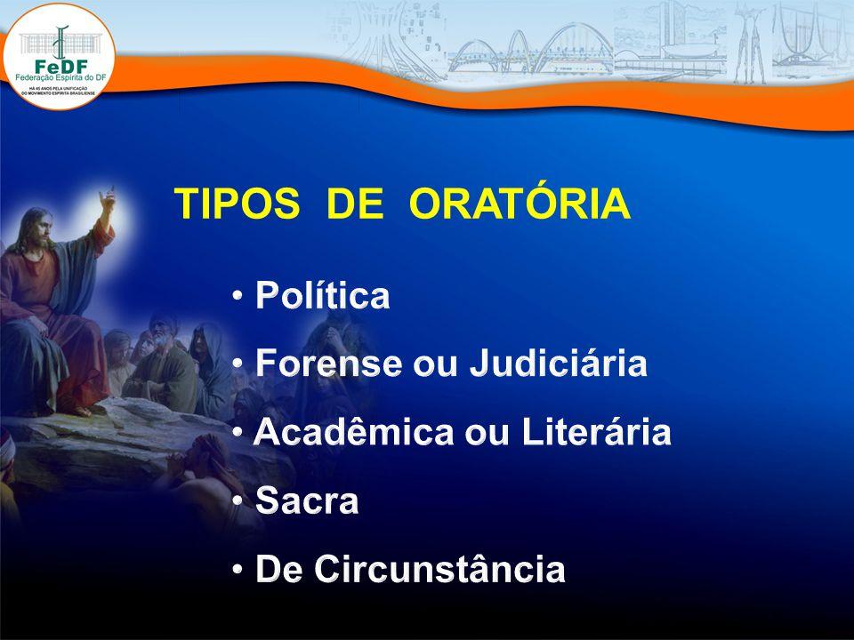 O Sermão da Montanha TIPOS DE ORATÓRIA Política Forense ou Judiciária