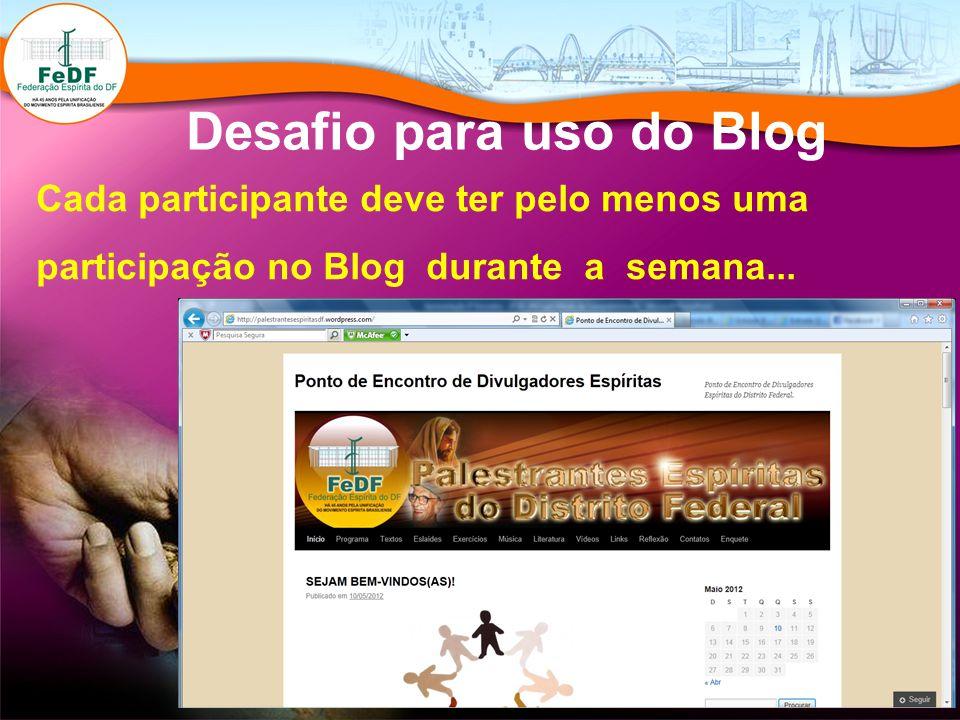Desafio para uso do Blog