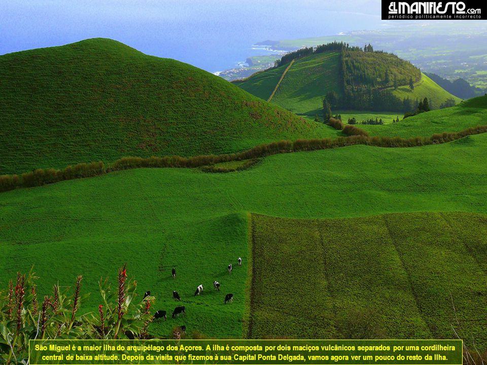 São Miguel é a maior ilha do arquipélago dos Açores