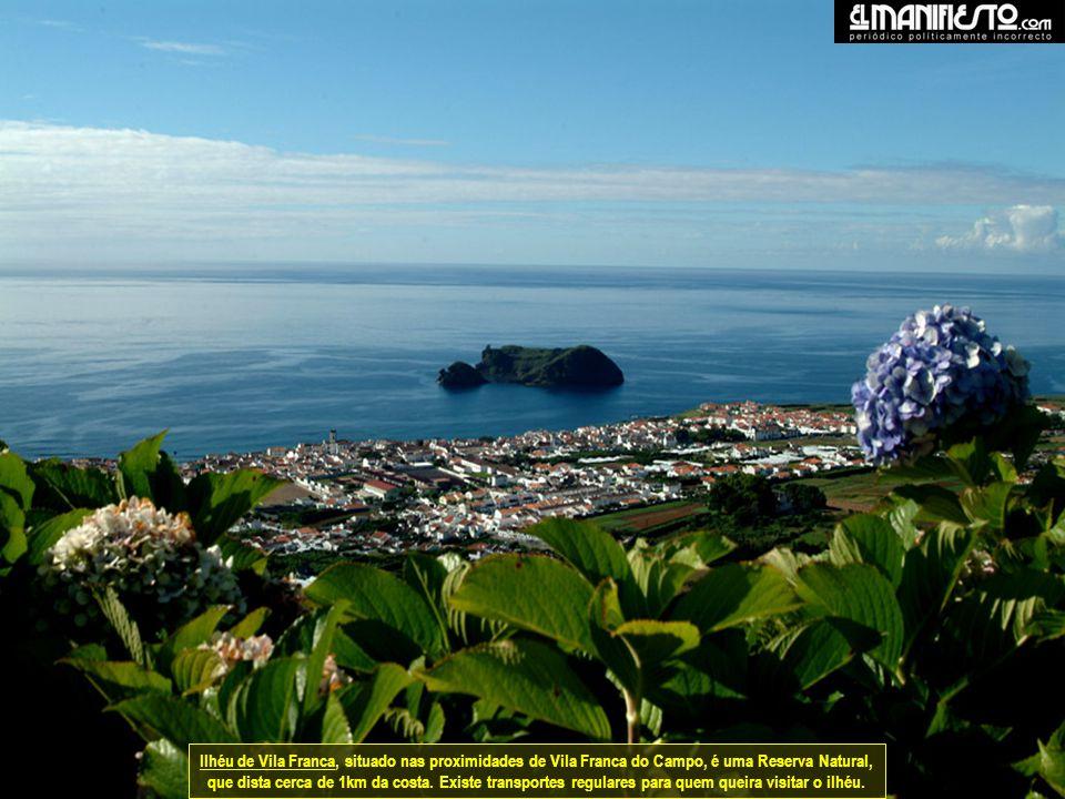 Ilhéu de Vila Franca, situado nas proximidades de Vila Franca do Campo, é uma Reserva Natural, que dista cerca de 1km da costa.