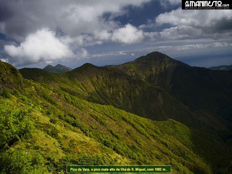 Pico da Vara, o pico mais alto da Ilha de S. Miguel, com 1082 m .