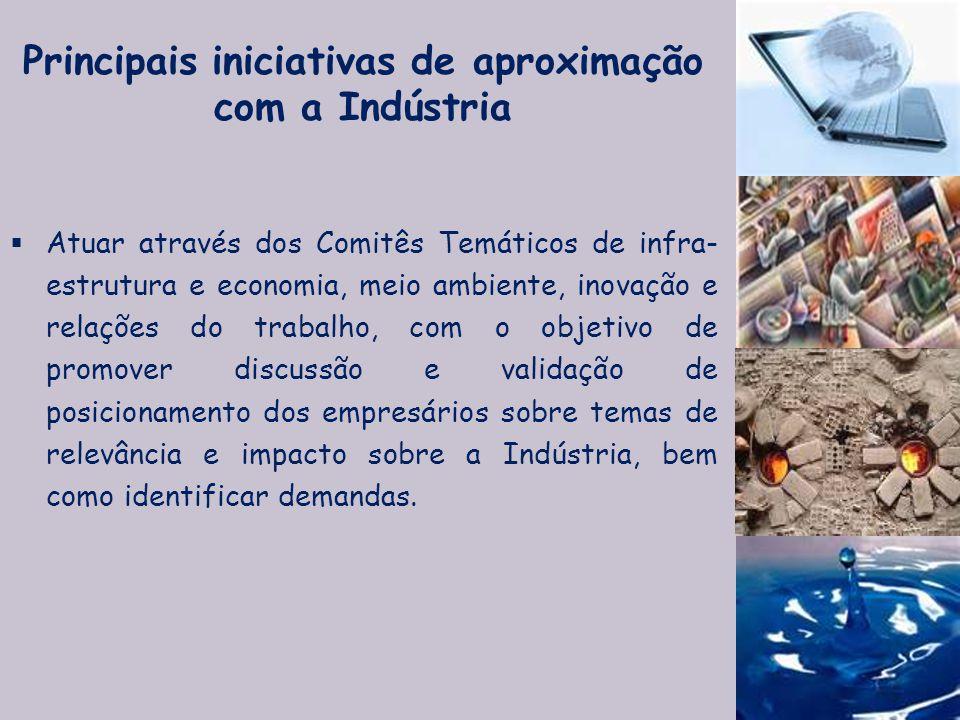 Principais iniciativas de aproximação com a Indústria