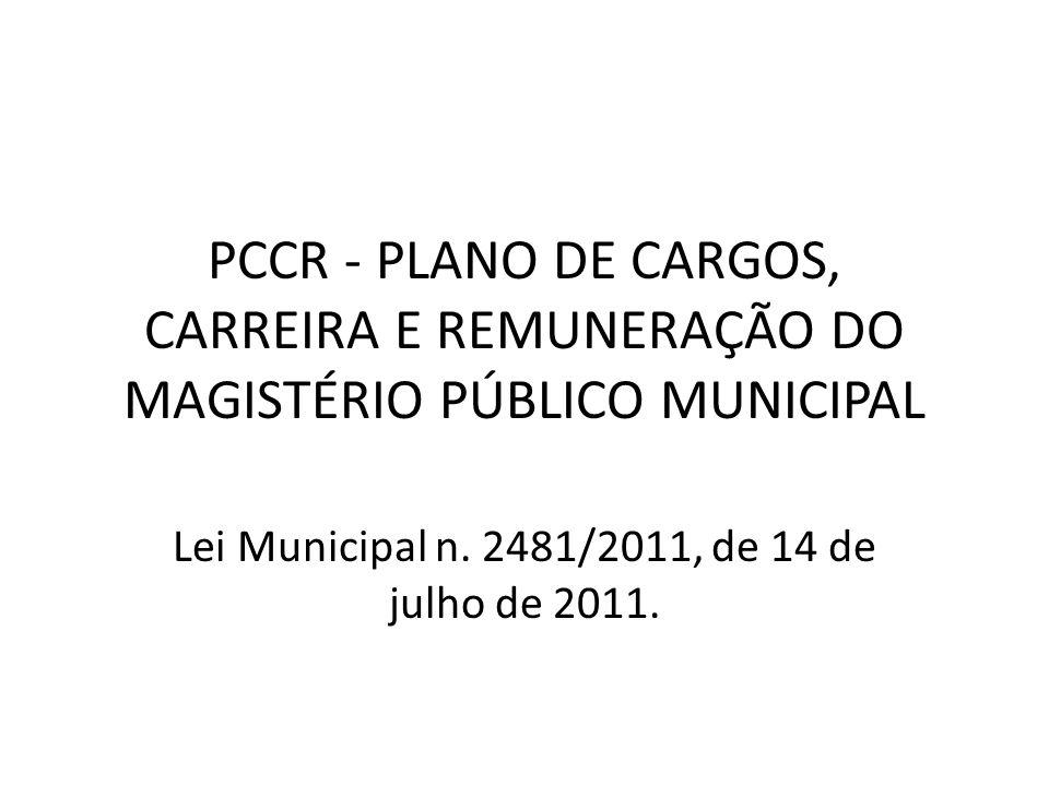 Lei Municipal n. 2481/2011, de 14 de julho de 2011.