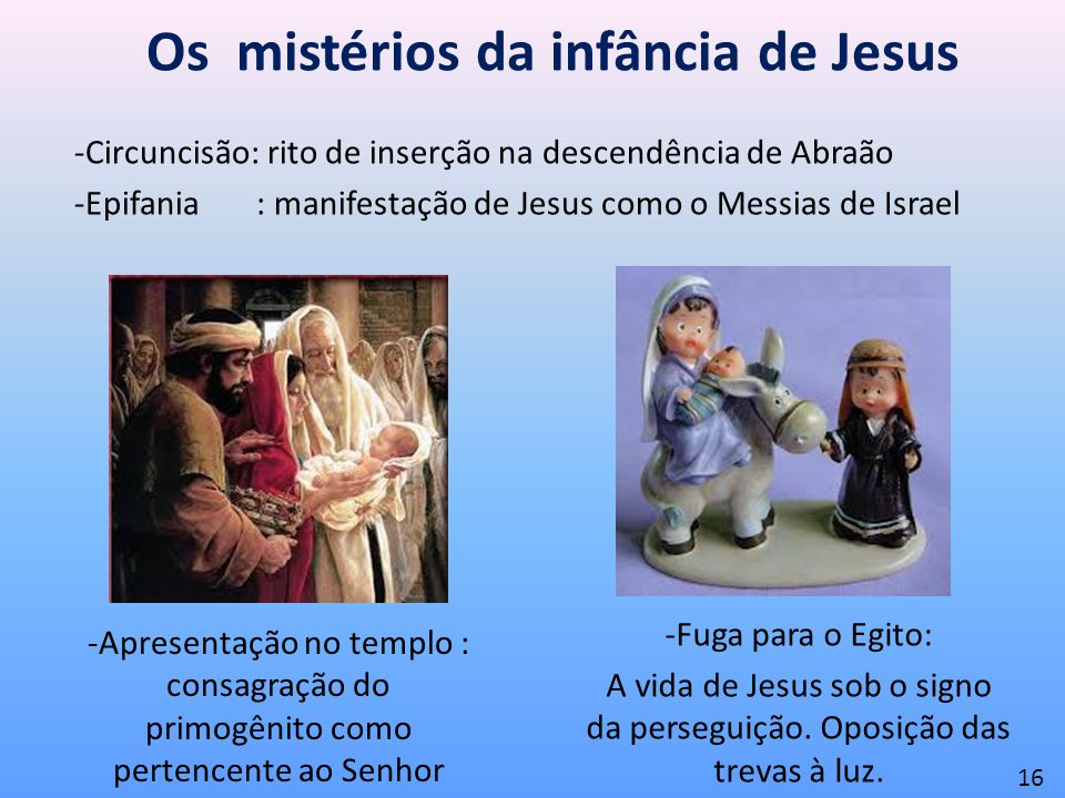 Os mistérios da infância de Jesus