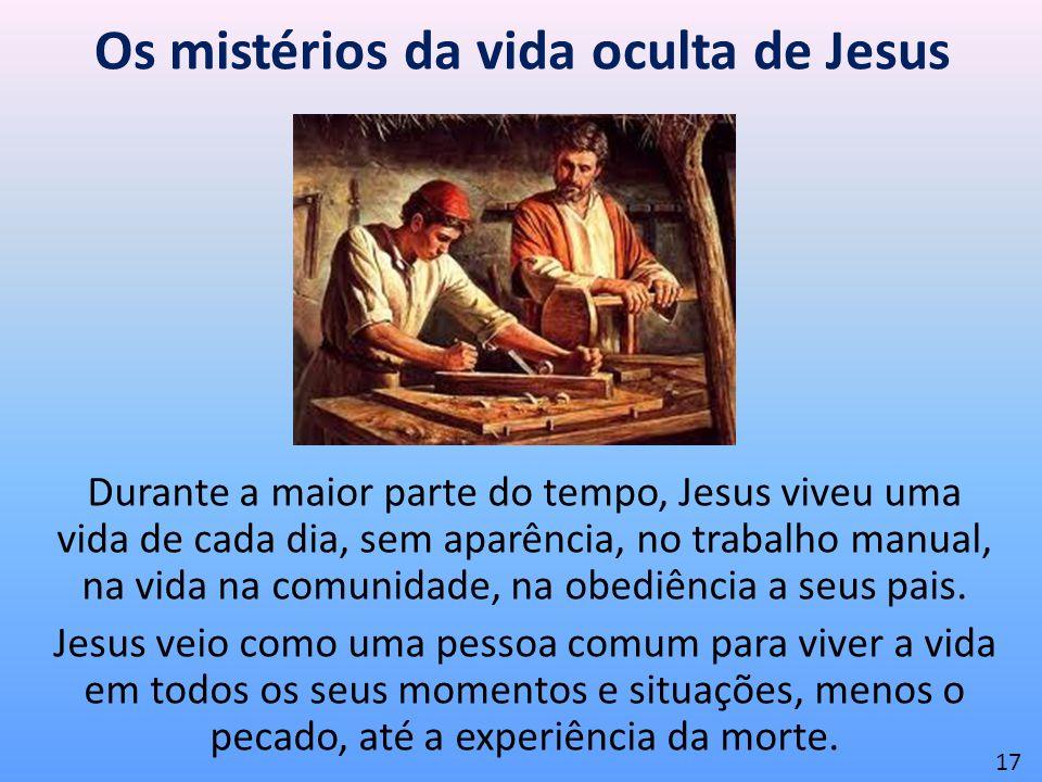 Os mistérios da vida oculta de Jesus