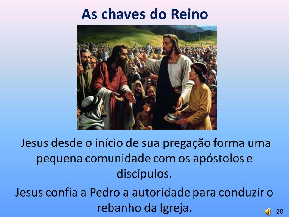 Jesus confia a Pedro a autoridade para conduzir o rebanho da Igreja.