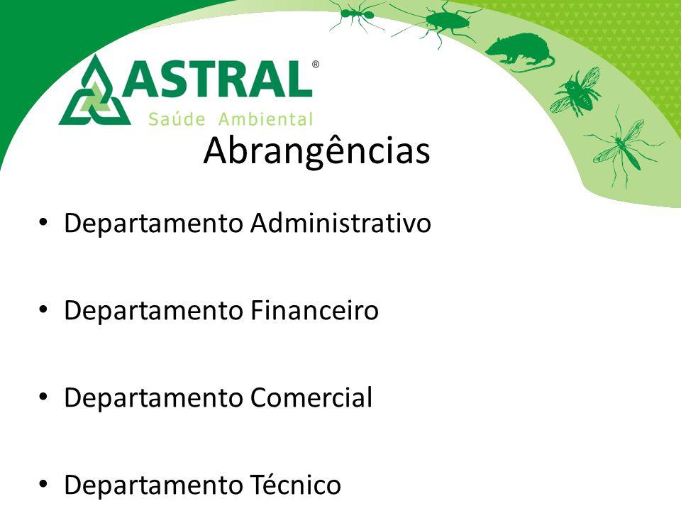Abrangências Departamento Administrativo Departamento Financeiro
