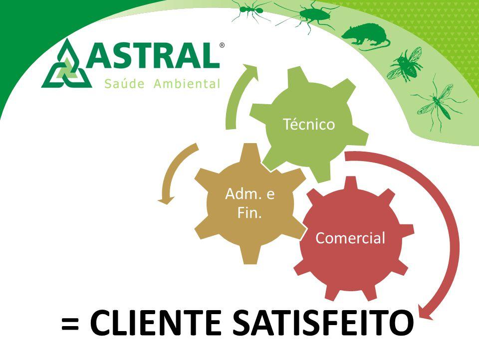 Comercial Adm. e Fin. Técnico = CLIENTE SATISFEITO