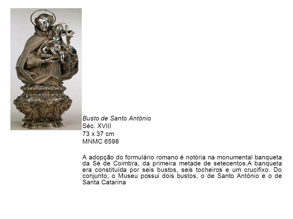 Busto de Santo António Séc. XVIII. 73 x 37 cm. MNMC 6598.