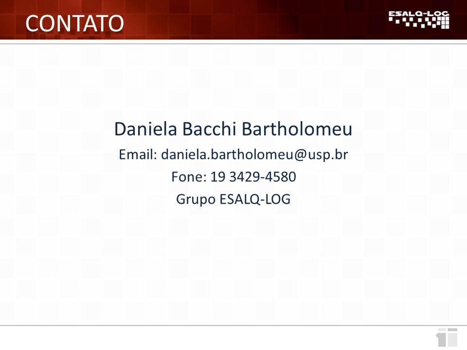 CONTATO Daniela Bacchi Bartholomeu Email: daniela.bartholomeu@usp.br
