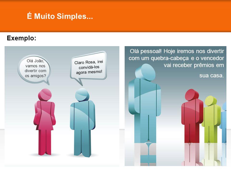 É Muito Simples... Exemplo: