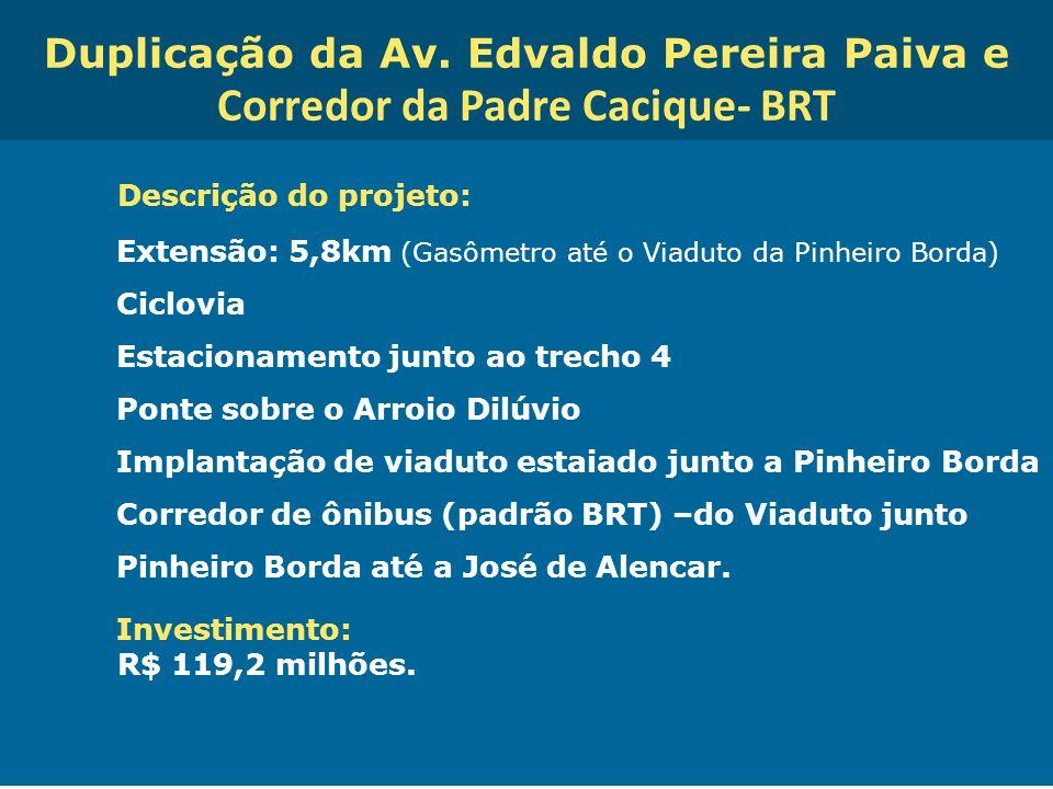 Duplicação da Av. Edvaldo Pereira Paiva e Corredor da Padre Cacique- BRT