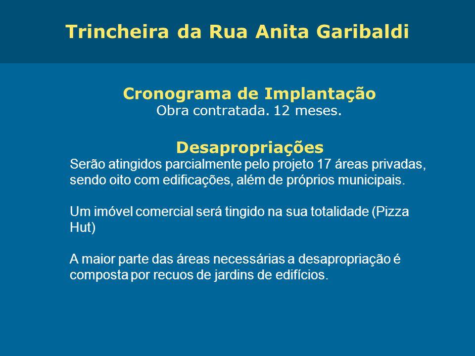 Trincheira da Rua Anita Garibaldi Cronograma de Implantação