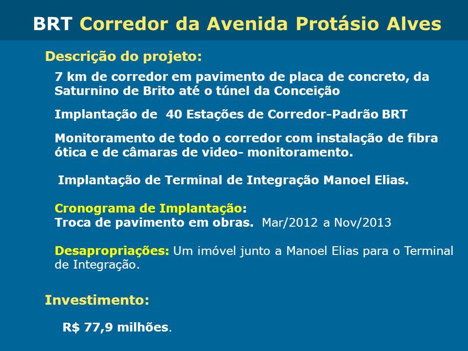 BRT Corredor da Avenida Protásio Alves