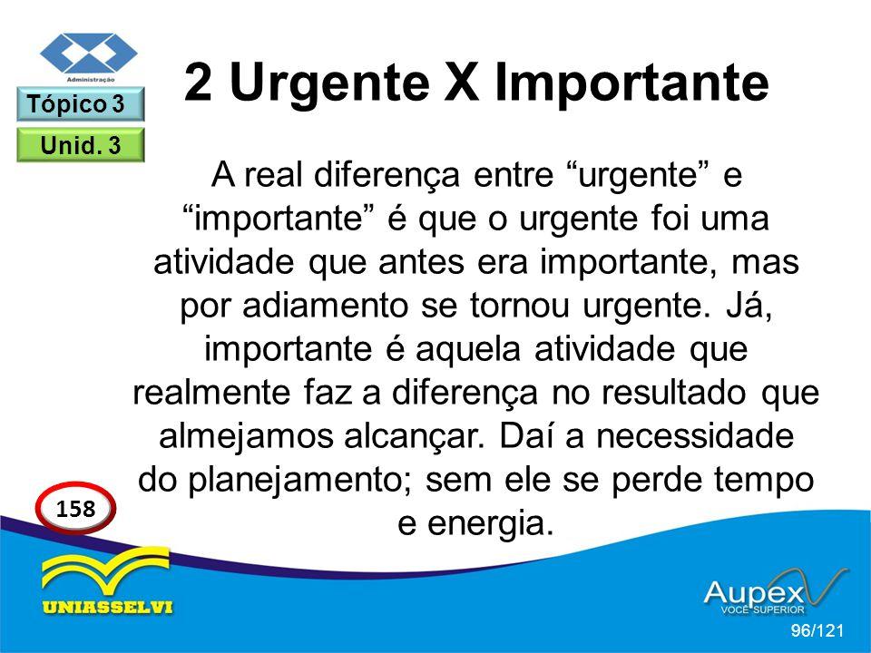 2 Urgente X Importante Tópico 3. Unid. 3.