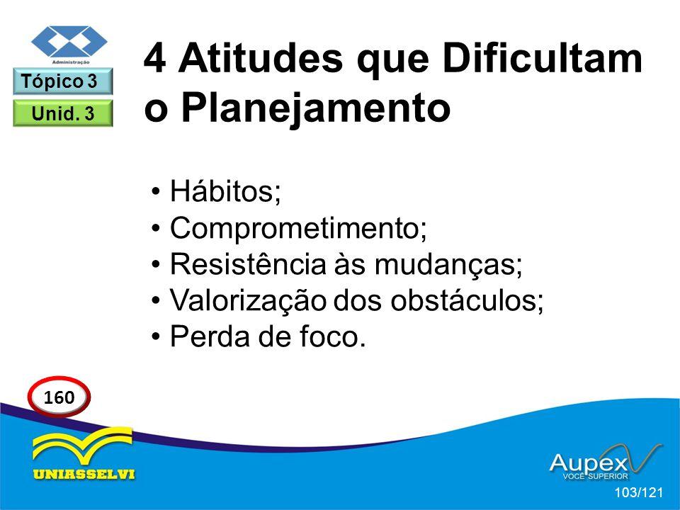 4 Atitudes que Dificultam o Planejamento