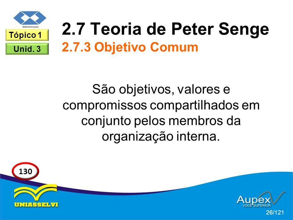 2.7 Teoria de Peter Senge 2.7.3 Objetivo Comum