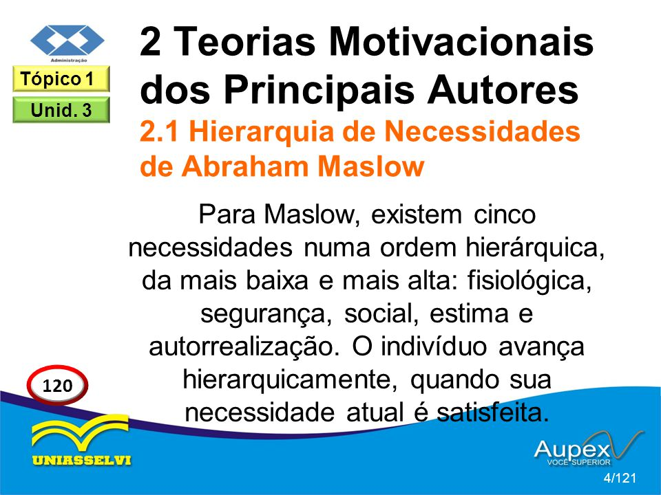 2 Teorias Motivacionais dos Principais Autores 2