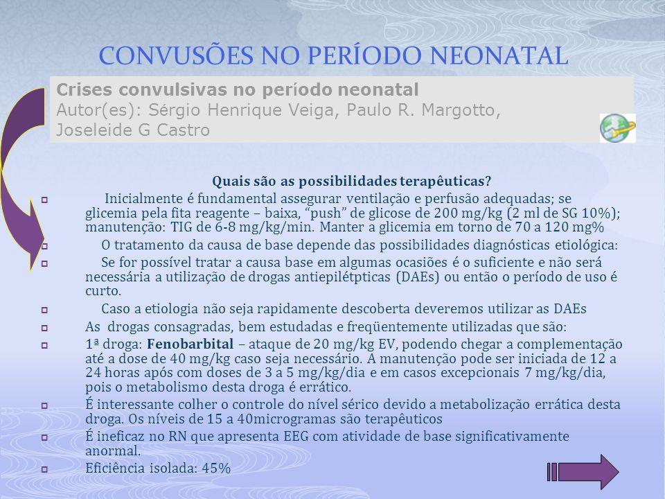 CONVUSÕES NO PERÍODO NEONATAL
