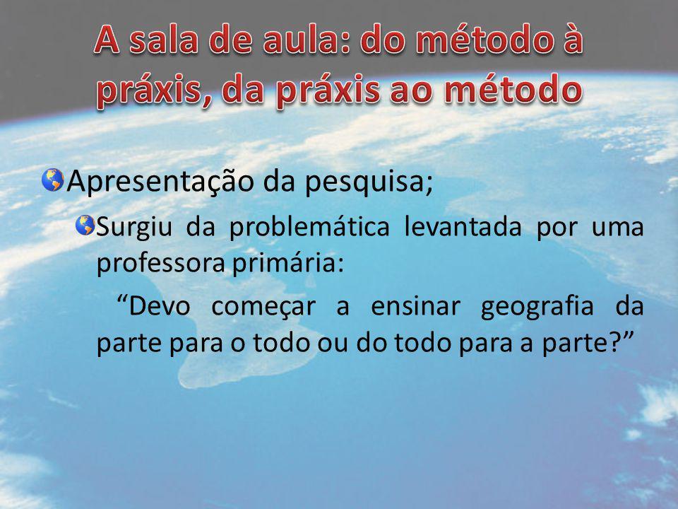 A sala de aula: do método à práxis, da práxis ao método