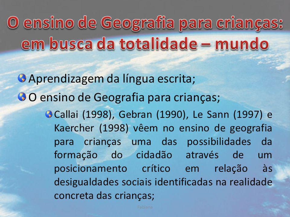 O ensino de Geografia para crianças: em busca da totalidade – mundo