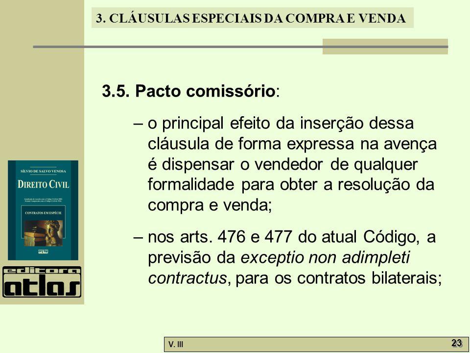 3.5. Pacto comissório: