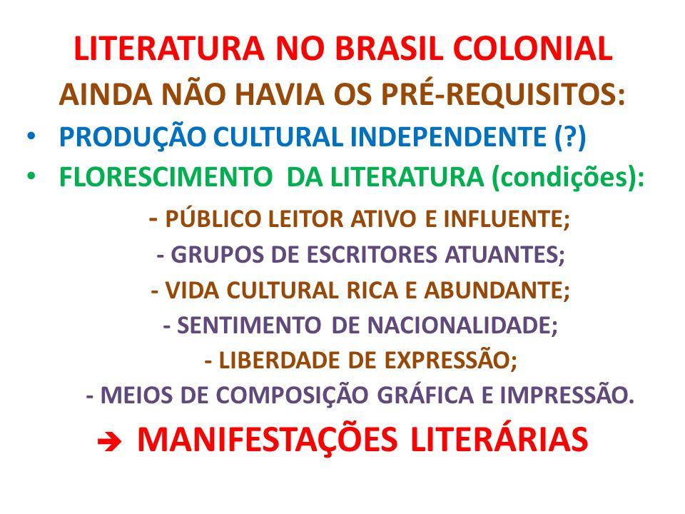 LITERATURA NO BRASIL COLONIAL