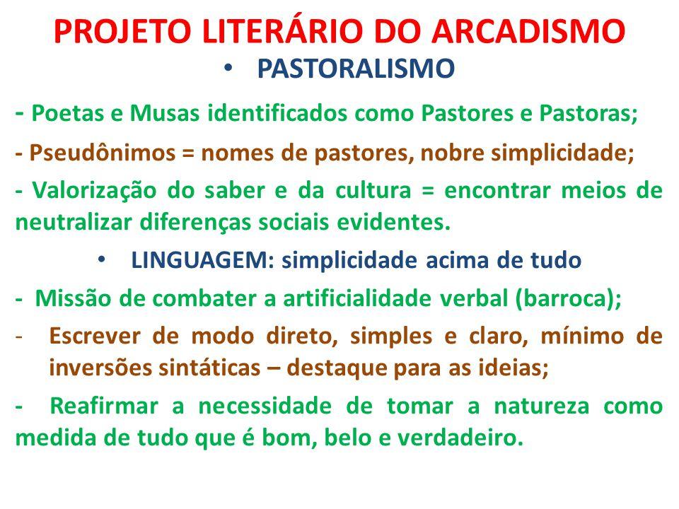 PROJETO LITERÁRIO DO ARCADISMO
