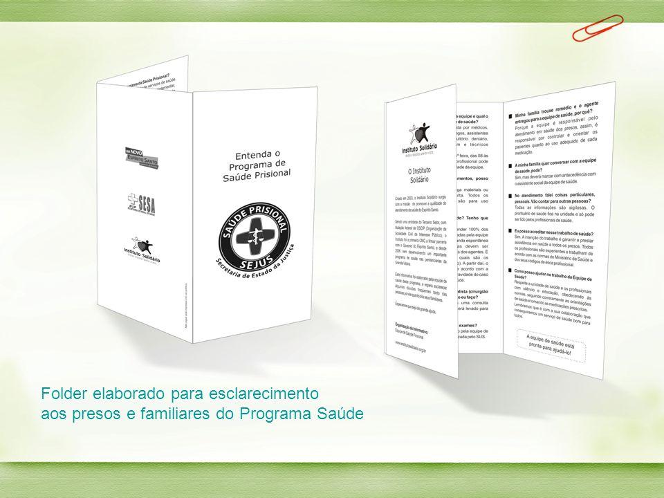 Folder elaborado para esclarecimento