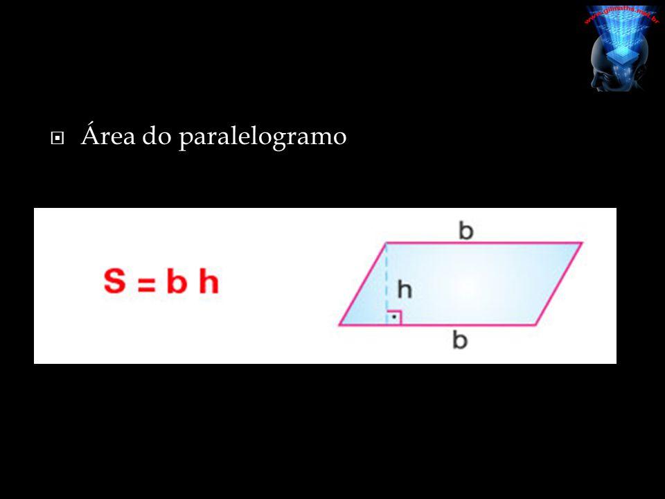 Área do paralelogramo