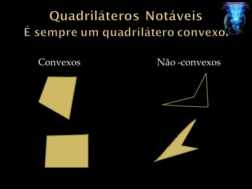 Quadriláteros Notáveis É sempre um quadrilátero convexo.